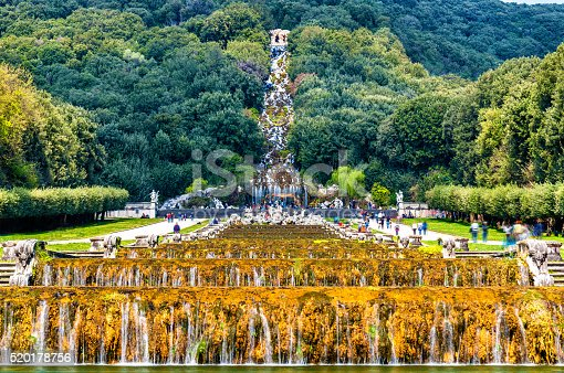 istock Kilometers-long promenade along cascades at the Palace of Caserta 520178756