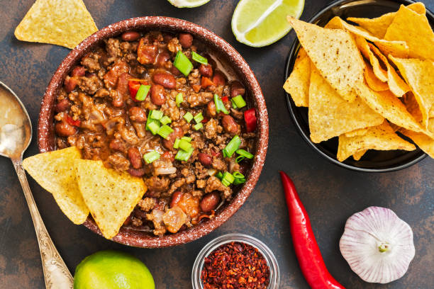 chili con carne - chilli stock photos and pictures