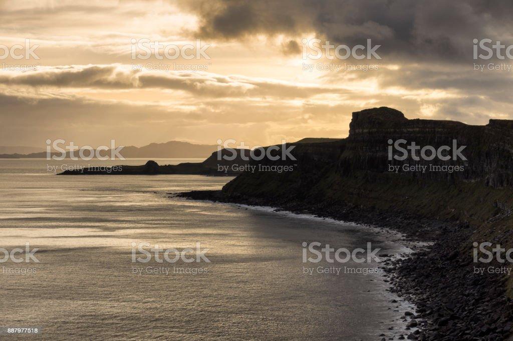 İskoç eteği Rock ve Mealt Falls stok fotoğrafı