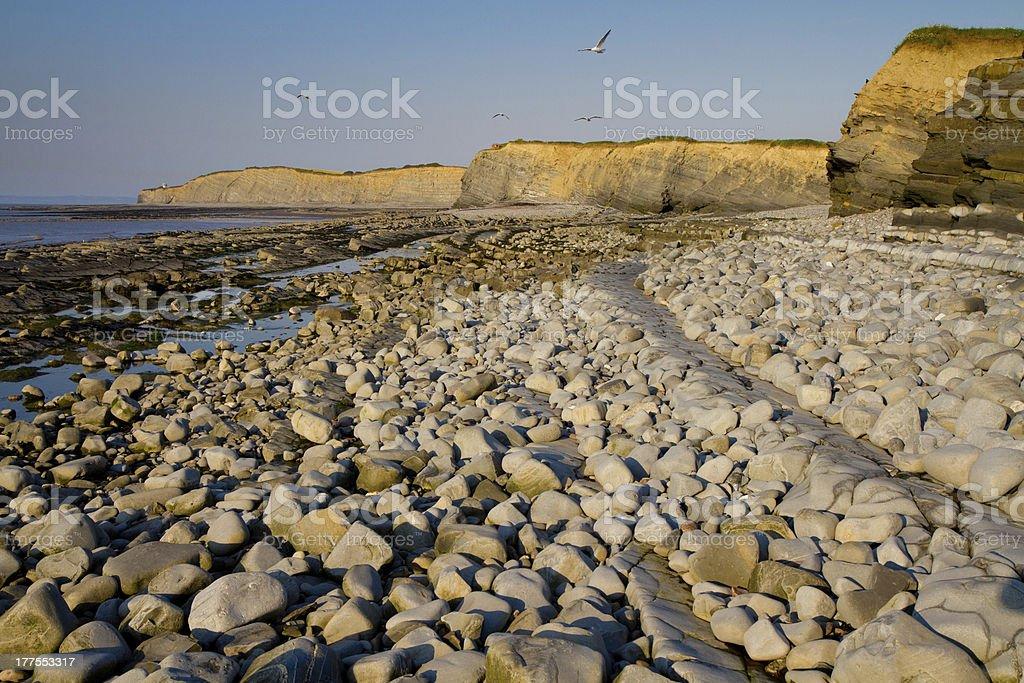 Kilve beach and coastline Somerset England royalty-free stock photo