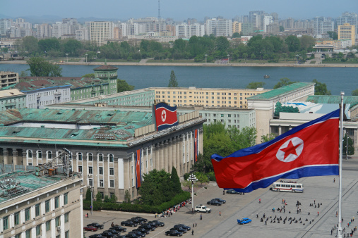 Kim Il Sung Square In Pyongyang Stock Photo - Download Image Now