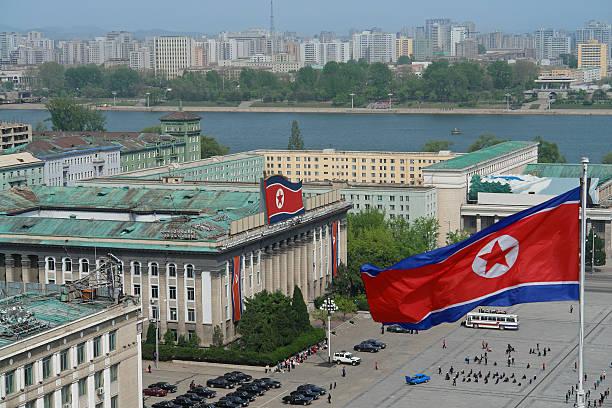 Kim Il Sung Square in Pjöngjang – Foto