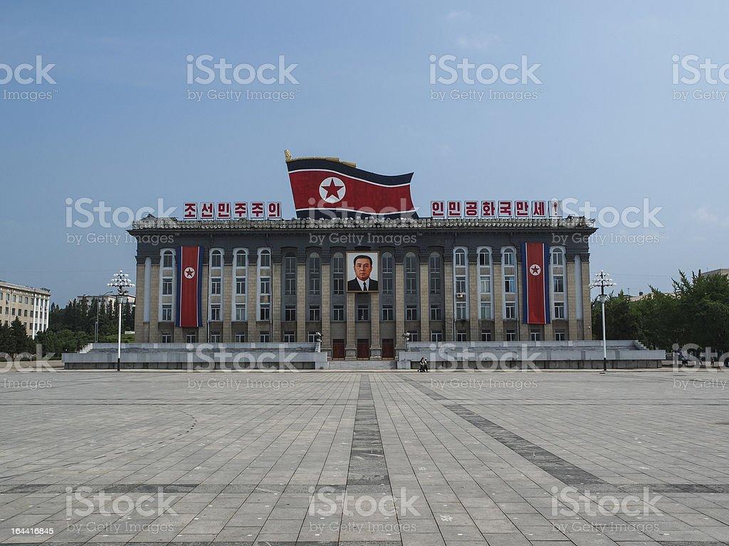 Kim Il-Sung Square, Pyongyang North Korea stock photo