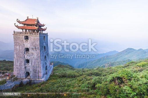 istock Kim Son Bao Thang Tu Pagoda on Fansipan mountain, landscape at Fansipan mountain in sapa, vietnam 1205647671