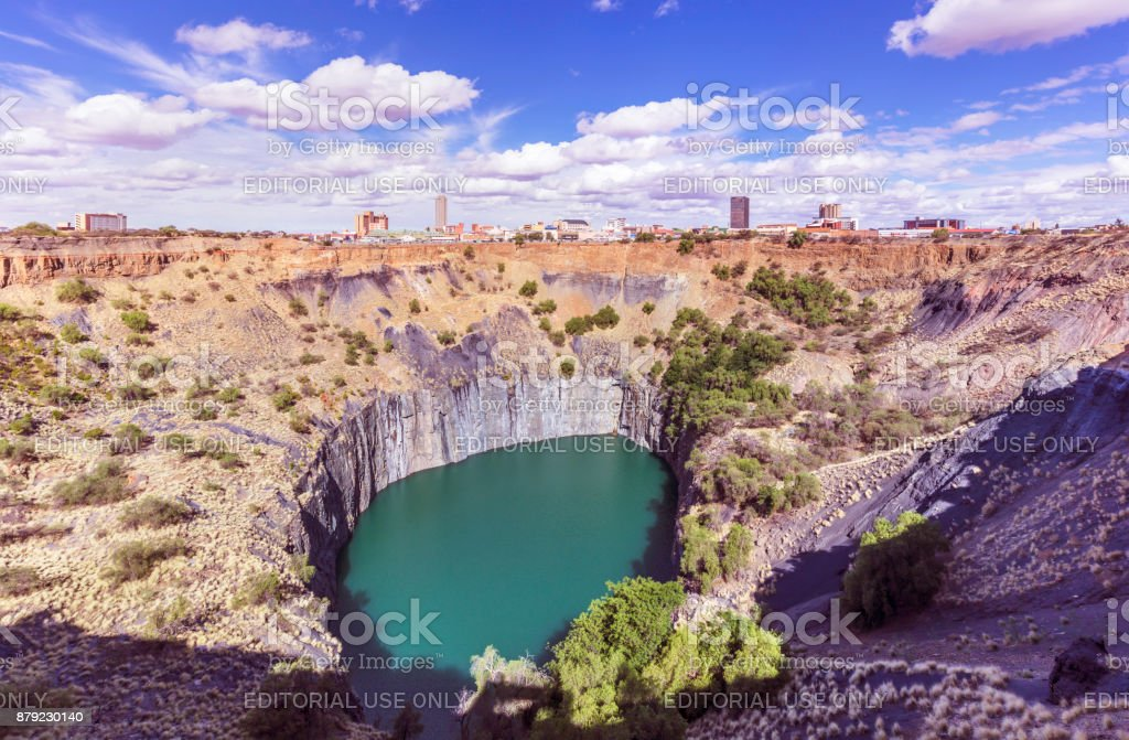 Kimberley big hole museum and city centre stock photo
