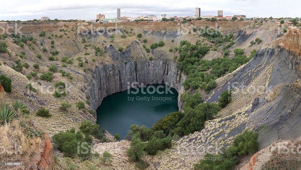 Kimberley big hole stock photo