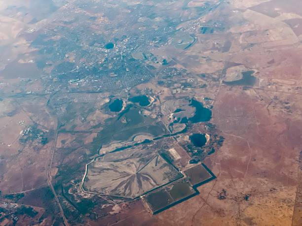 Kimberley with the big diamond hole South Africa stock photo