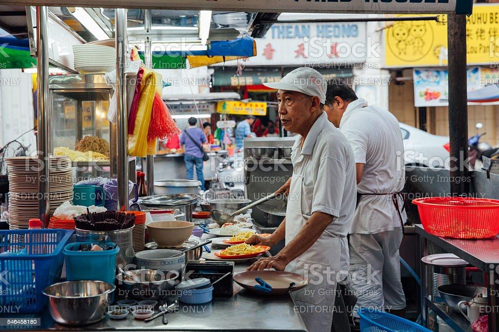 Kimberly Street Market, Penang, Malaysia stock photo