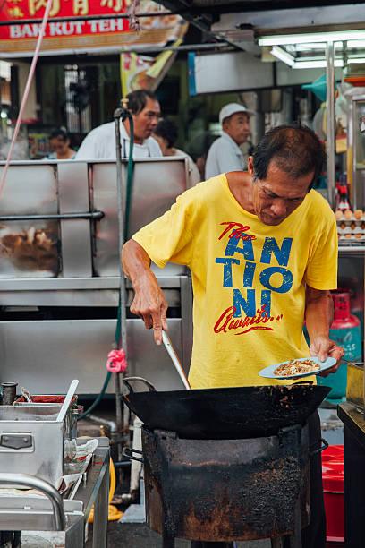 kimberly street market, penang, malaysia - ein topf wunder stock-fotos und bilder