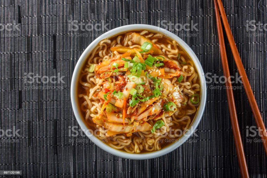 Kimchee Ramen stock photo