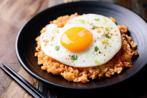Kimchi gebratener Reis, koreanisches Essen – Foto