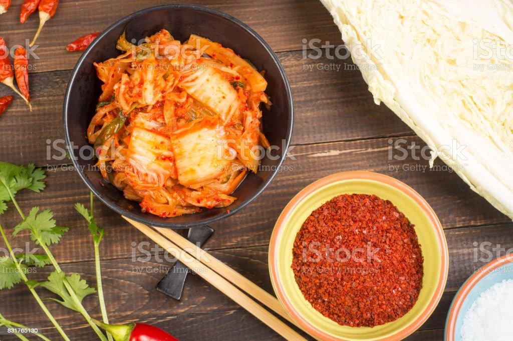 Kimchi korean pickled cabbage stock photo