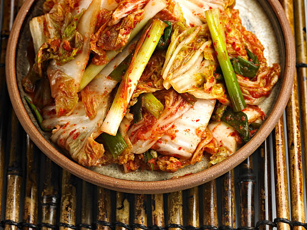 Kimchi Close up of Kimchi. kimchee stock pictures, royalty-free photos & images