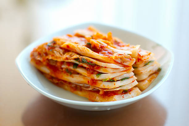 Kimchi Spicy Korean Kimchi kimchee stock pictures, royalty-free photos & images
