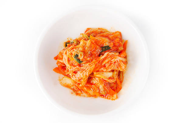 Kimchi Kimchi vegetable on white baackground kimchee stock pictures, royalty-free photos & images
