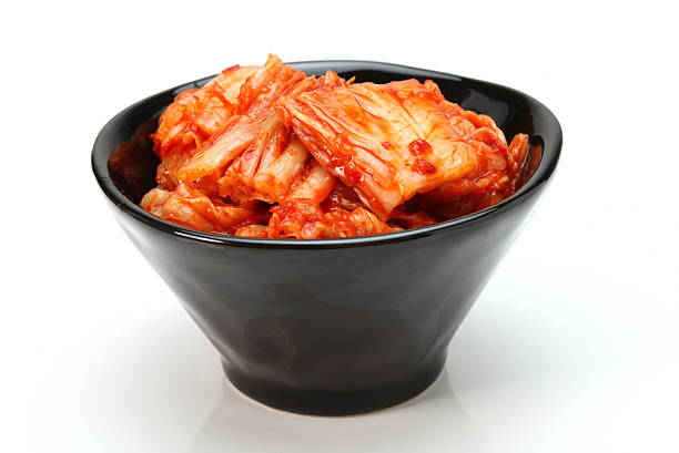 Kimchi Kimchi (Korean food) close up on white background kimchee stock pictures, royalty-free photos & images