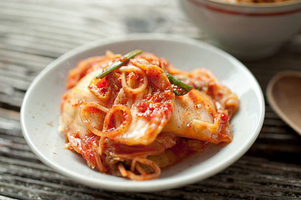 Kimchi Freshly made Kimchi kimchee stock pictures, royalty-free photos & images
