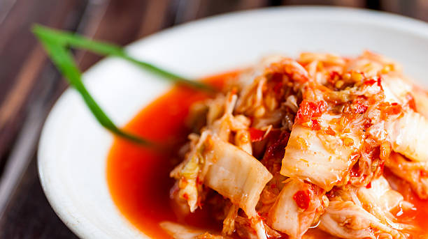 Kimchi salad korean food traditional Kimchi Vegetables salad of korean food traditional kimchee stock pictures, royalty-free photos & images