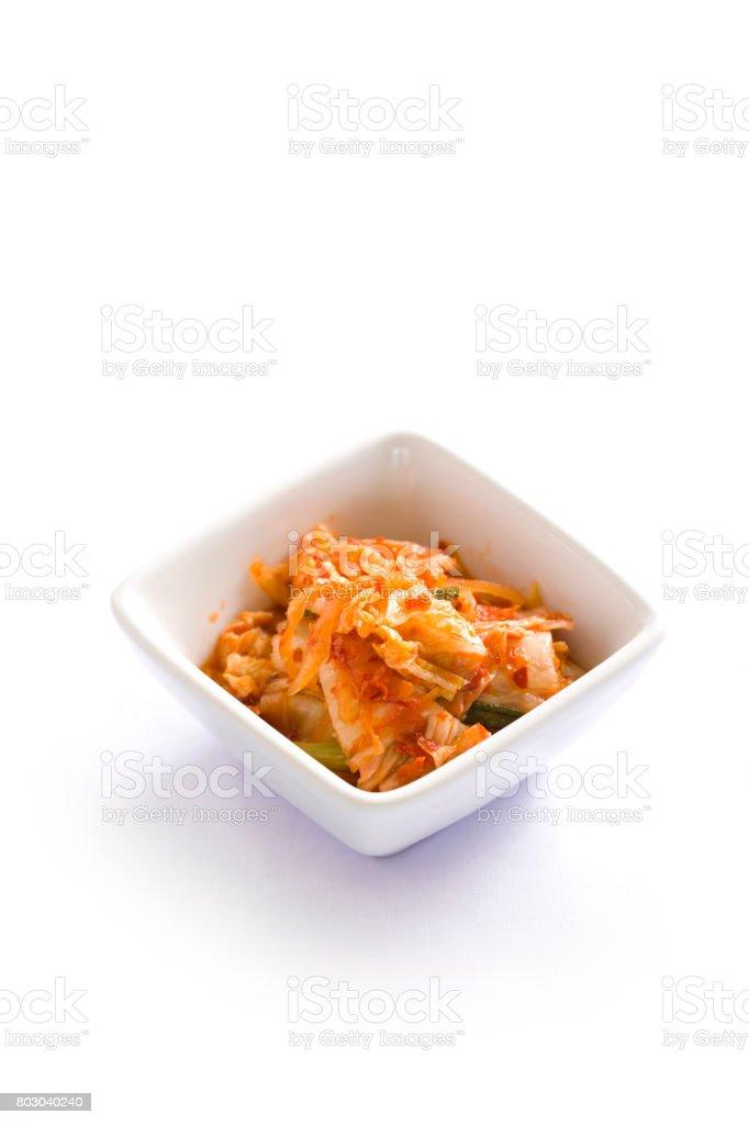 Kimchi salad of Korean food stock photo
