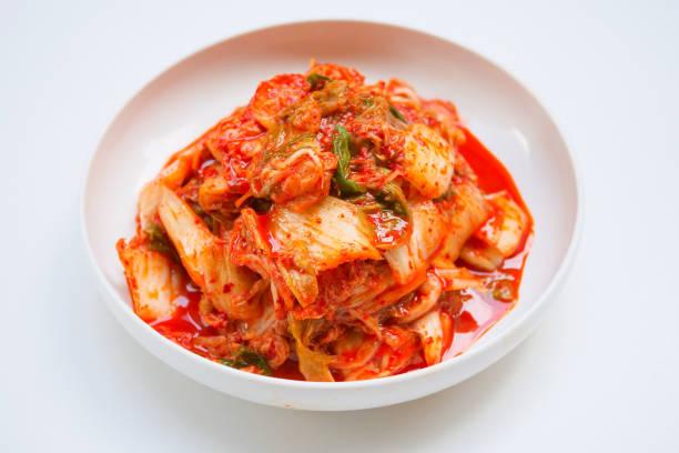 Kimchi, salted pickled korean style stock photo