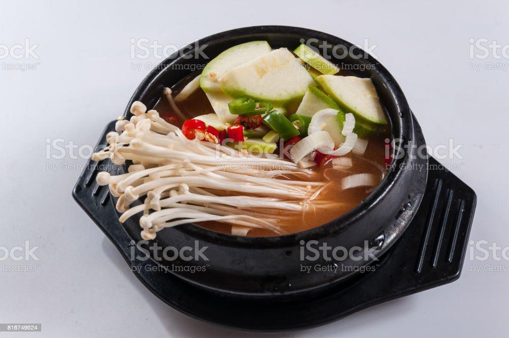 Kimchi soup stock photo
