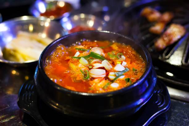 Kimchi Stew Kimchi Stew, Korean Food kimchee stock pictures, royalty-free photos & images