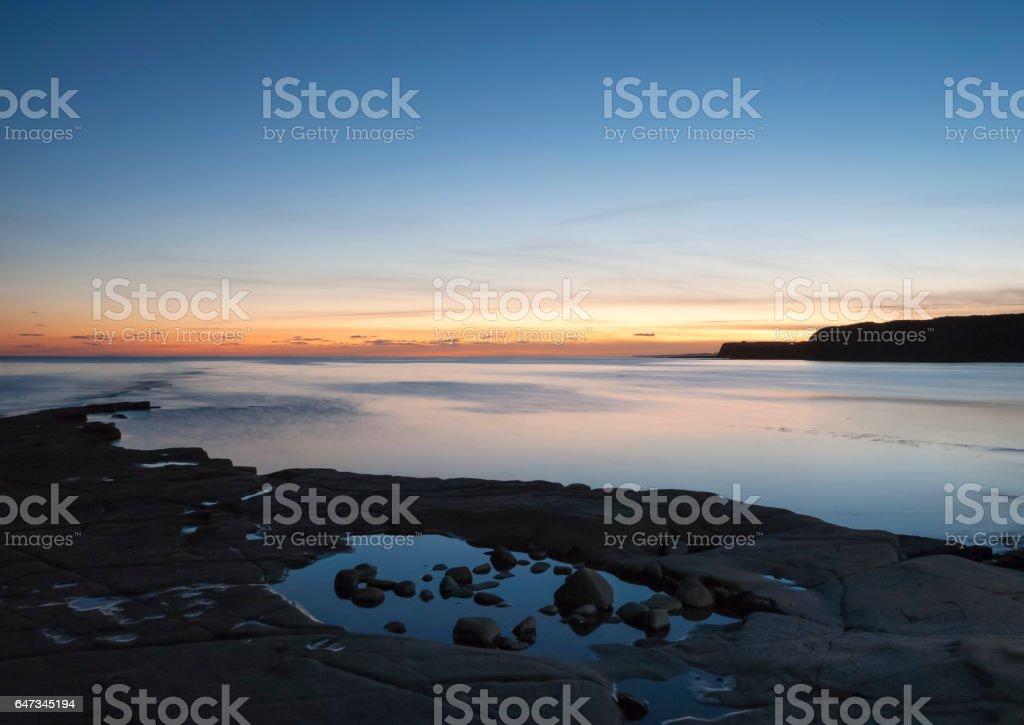 Kimmeridge bay at Dusk, Dorset, Uk stock photo