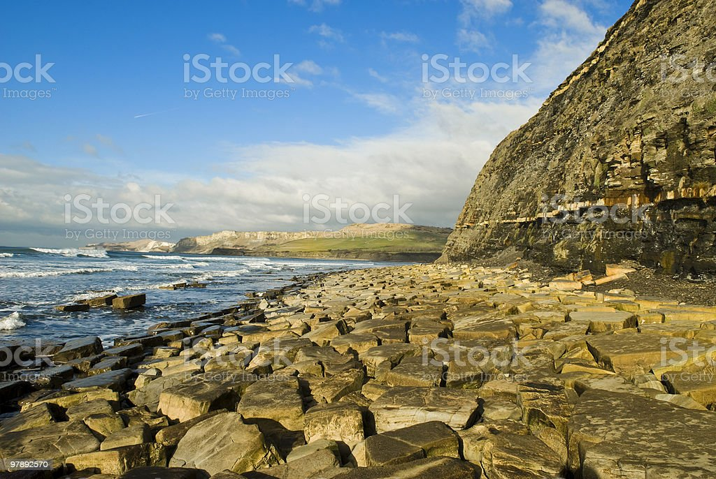 Kimmeridge Bay England royalty-free stock photo