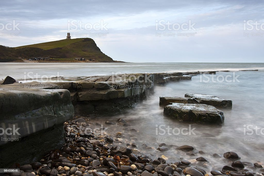 Kimmeridge Bay in the Morning Light royalty-free stock photo