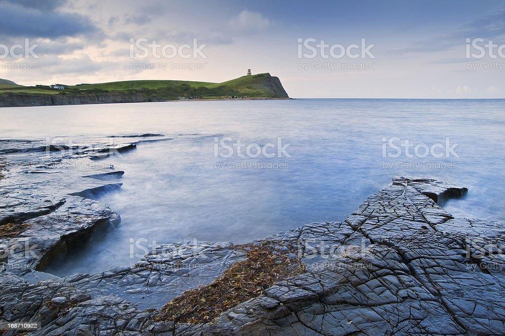 Kimmeridge Bay sunrise landscape, Dorset England royalty-free stock photo
