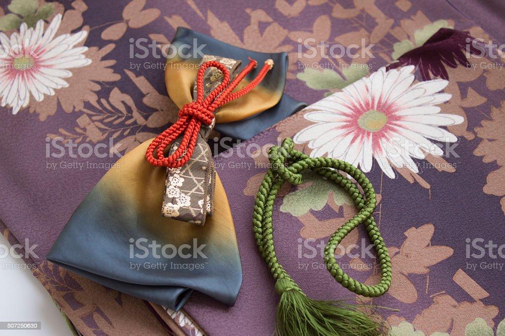 kimono & accessory stock photo