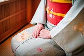 京都で着物と日本人女性