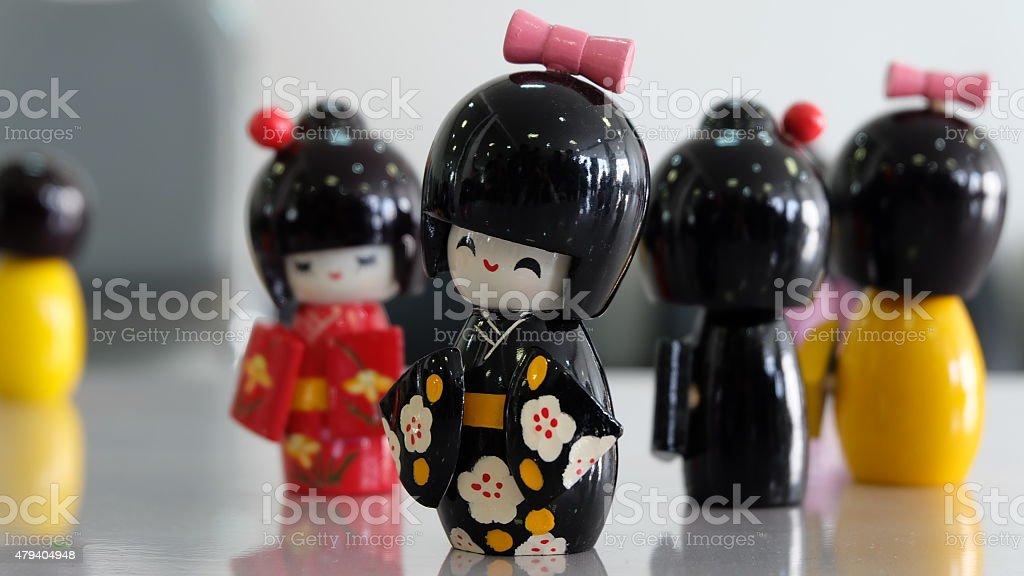 kimono Dolls stock photo