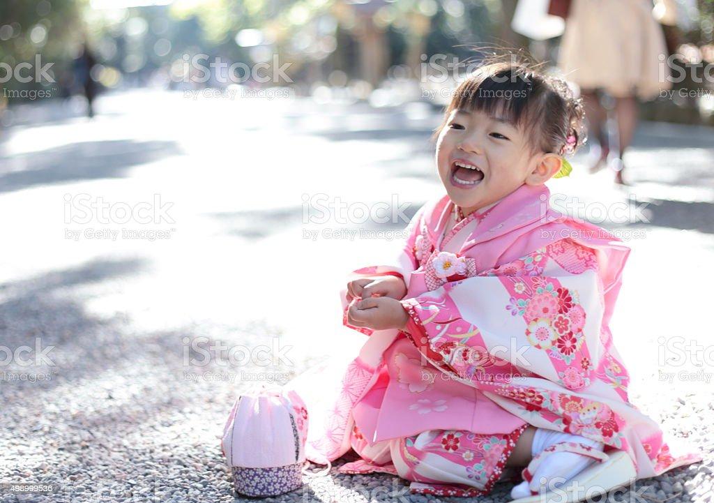 Kimono girl stock photo
