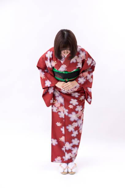 着物の日本舞踊のイメージ ストックフォト
