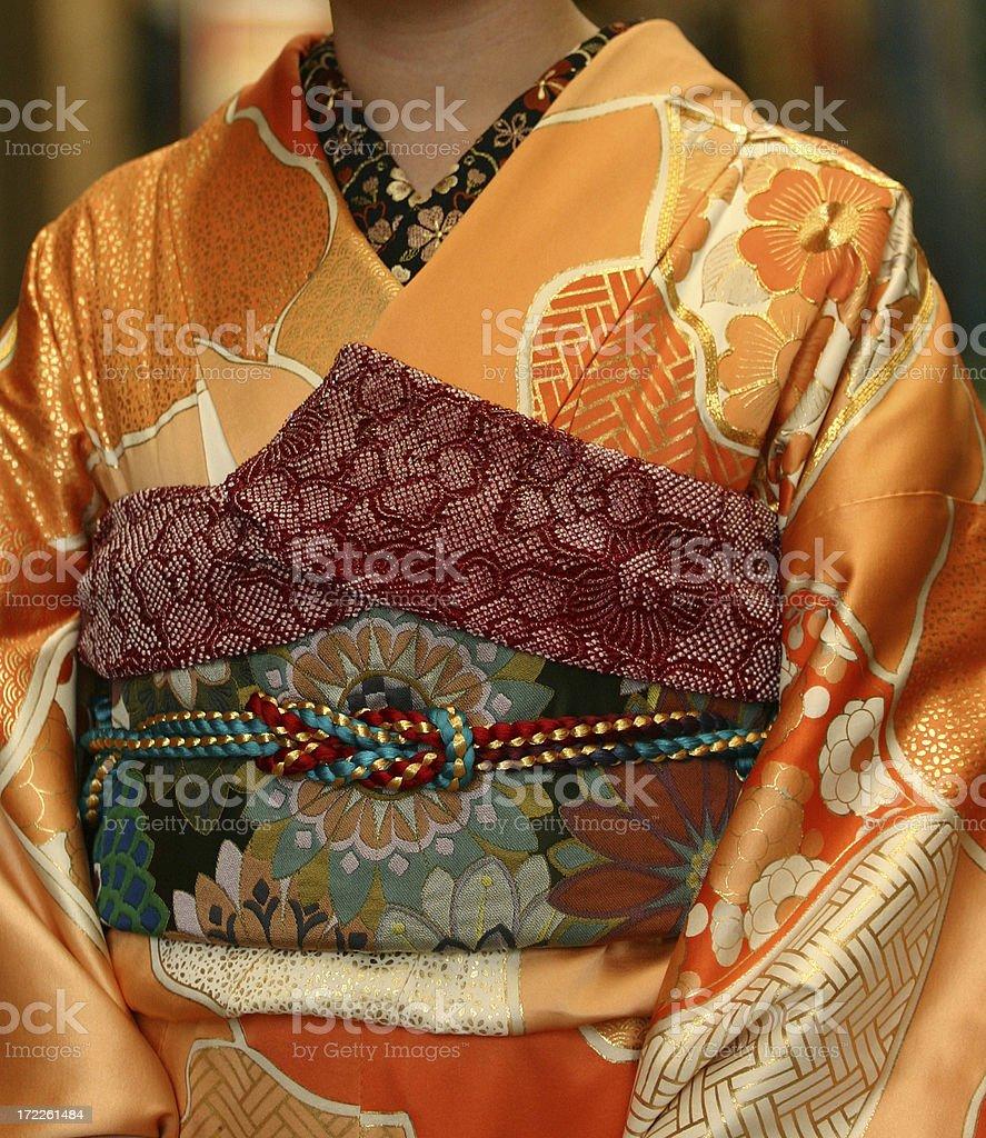 Kimono obi royalty-free stock photo