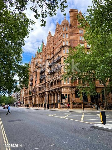 London, United Kingdom - July 10 2020: Kimpton Fitzroy Hotel, Russell Square, exterior street view