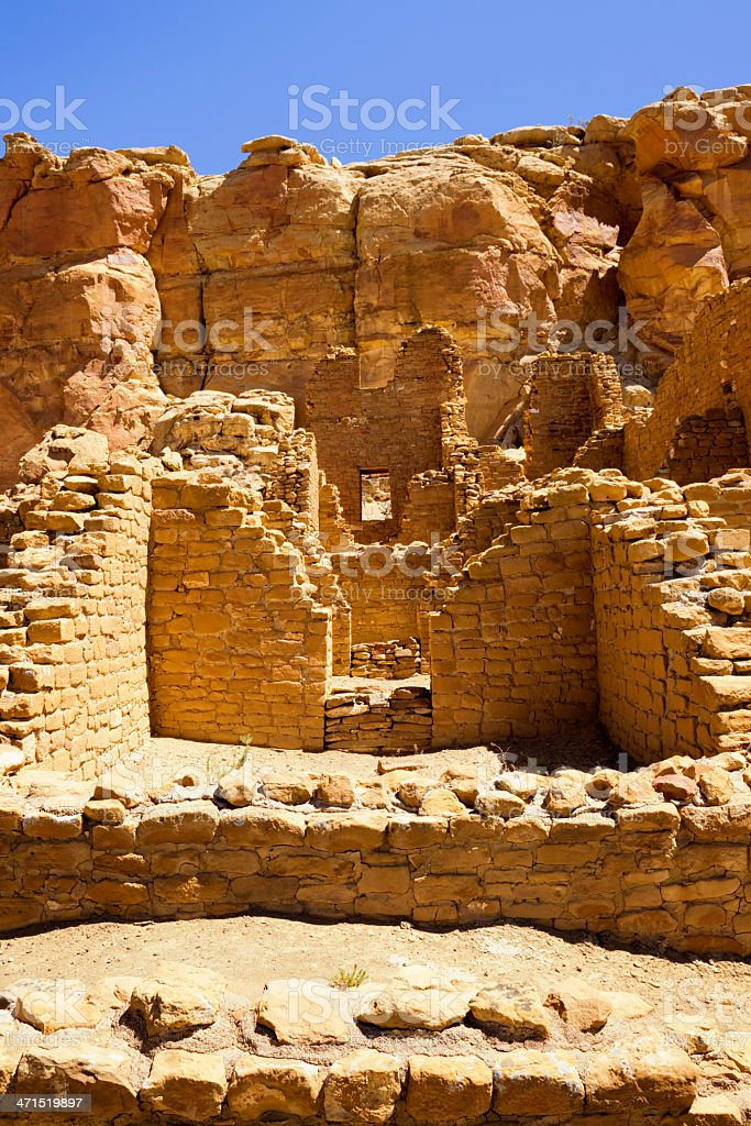 Kin Kletso Ruins - Chaco Culture National Historical Park royalty-free stock photo