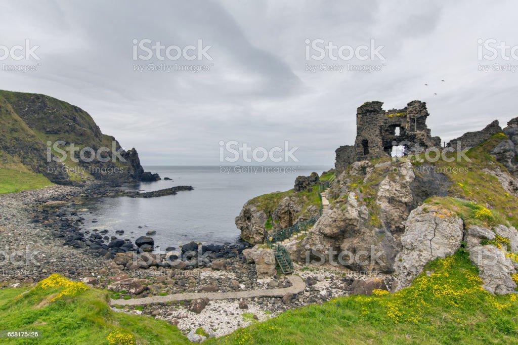 Kinbane Head, County Antrim stock photo