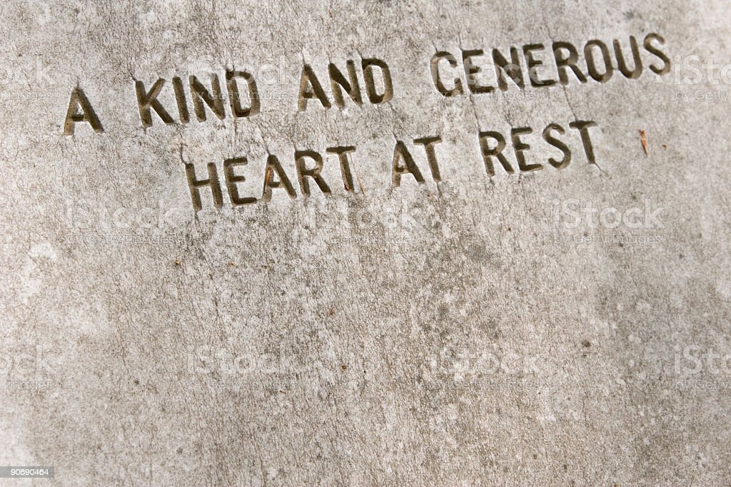 Kind and generous heart royalty-free stock photo