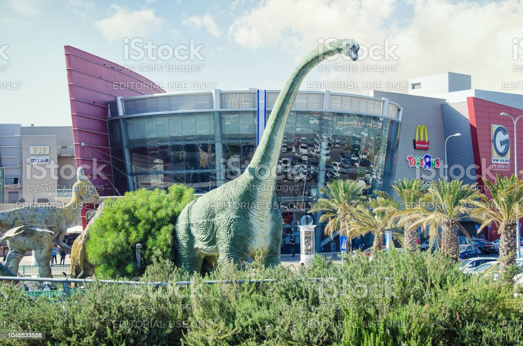 Number of sculptures of Dinosaurs at the entrance to Cinema City