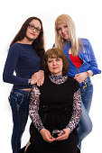 istock Kind mother and her happy adult daughters 491544678
