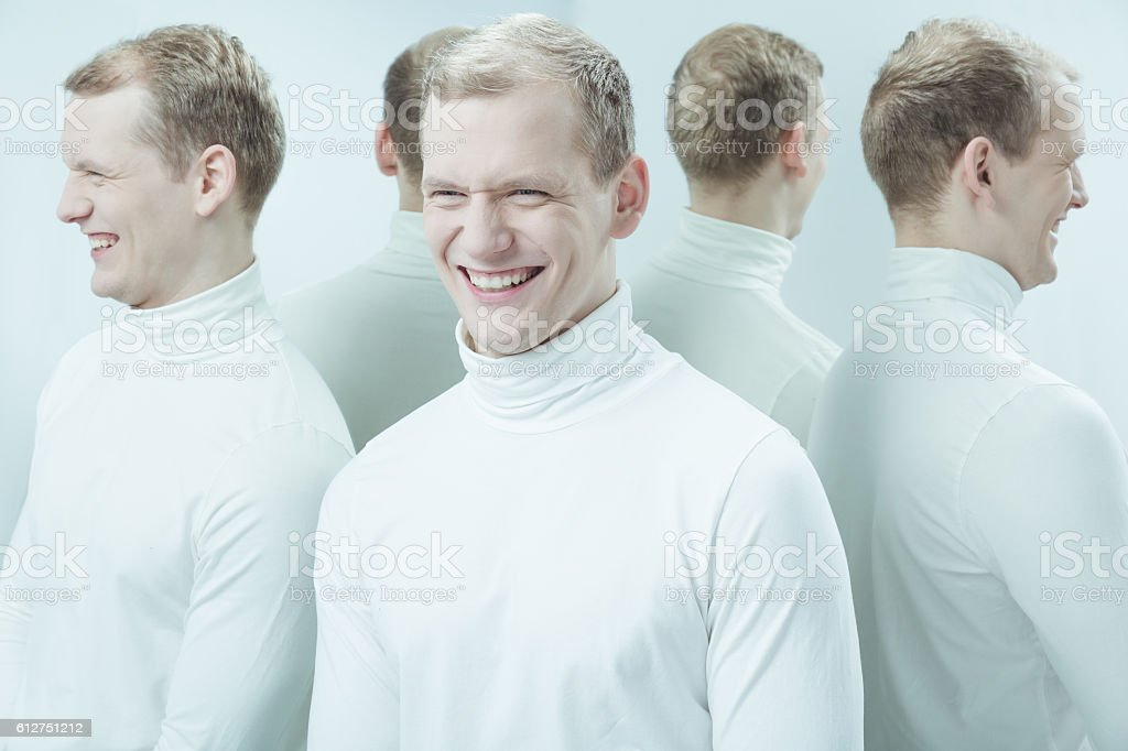Kind of mean laught stock photo