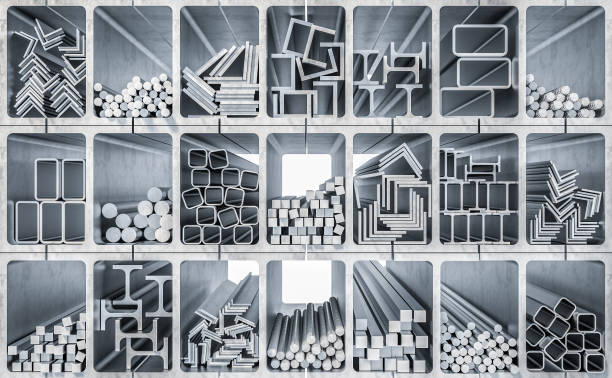種類金屬型材 - 鋼鐵 個照片及圖片檔