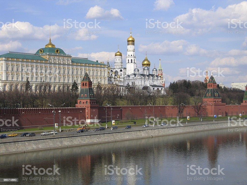 kind to the Moscow Kremlin royalty-free stock photo