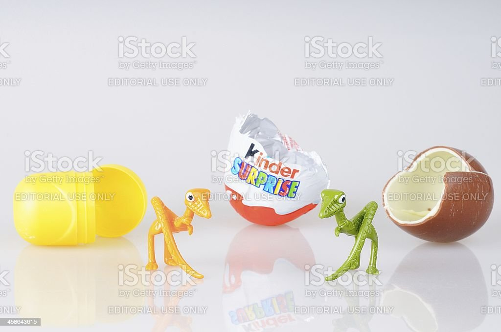 Kinder Surprise Toys stock photo