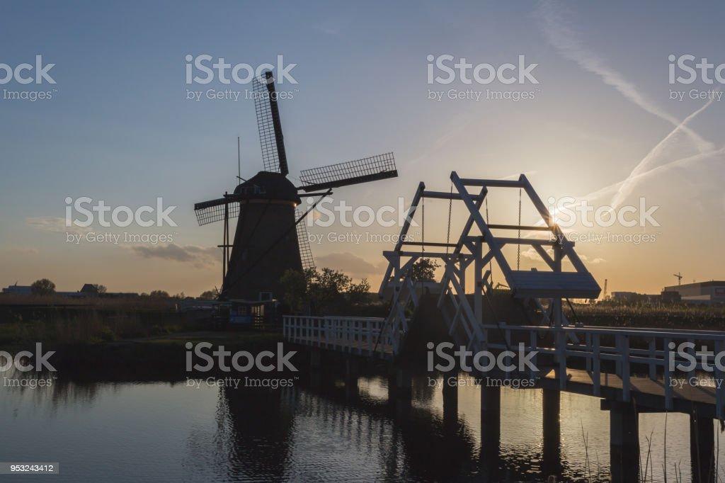 Kinderdijk Molenwaard South Holland The Netherlands Europe stock photo