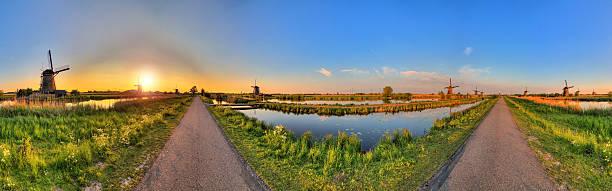 360 Kinderdijk stock photo