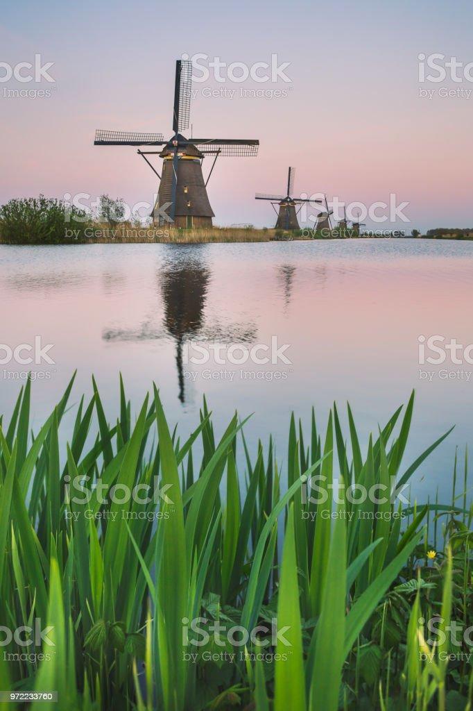 Kinderdijk Rotterdam South Holland Netherland Europe stock photo