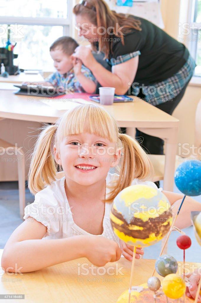 Kindergarden kids and early childhood education - III royalty-free stock photo